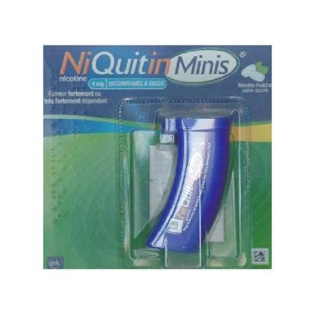 Niquitinminis menthe fraiche 4 mg 20 comprimés