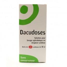 Dacudoses solution pour lavage ophtalmologique 24 doses