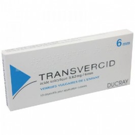 TRANSVERCID 6mm 10 pansements