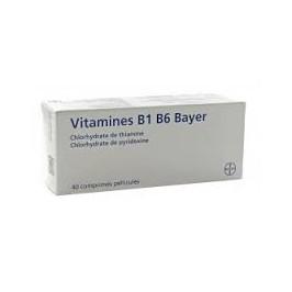 Vitamines B1 B6 Bayer 40 comprimés