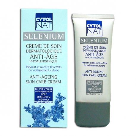 Cytolnat selenium crème de soin dermatologique anti-âge 50ml