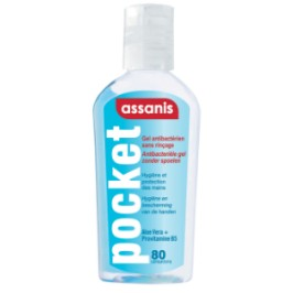 Assanis pocket gel antibactérien 80ml