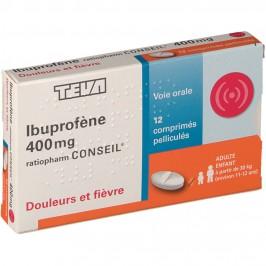 Ibuprofene 400mg Teva 12 comprimés