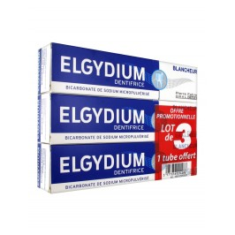Elgydium Dentifrice Blancheur Lot de 3 x 75 ml