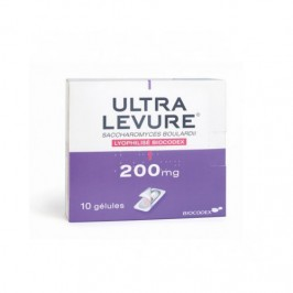 Ultra levure 200 mg 10 gélules