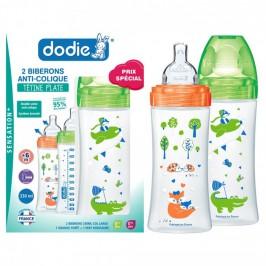 Dodie Coffret Biberon Sensation + Débit 3 Anti Colique 6 mois et plus 2x 330 ml