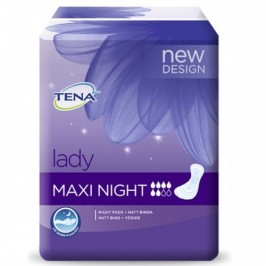 Tena Lady Protection anatomique adhésive Nuit 12 Protections