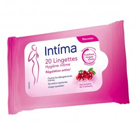Intime lingettes cranberry x20
