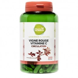 Pharmascience vigne rouge vitamine C 200 gélules