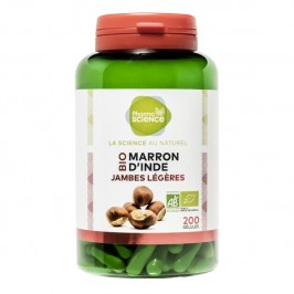 Pharmascience marron d'inde bio 200 gélules