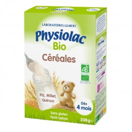 PHYSIOLAC BIO CEREALES DES 4 MOIS 200G