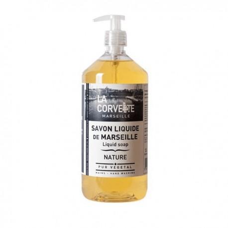 La Corvette savon de Marseille liquide nature 1L