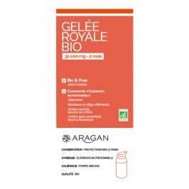 Aragan gelée royale bio 30 000mg 2 mois