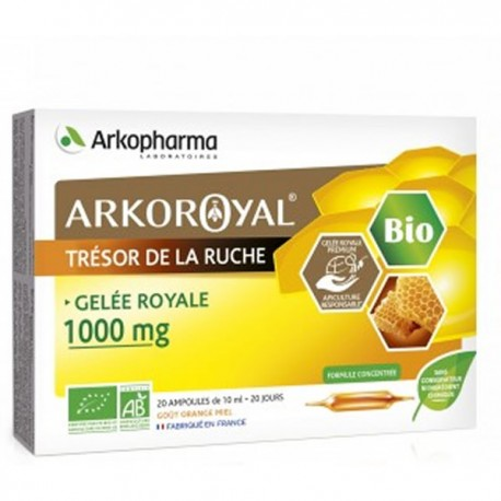 Arkopharma arkoroyal gelée royale 1000mg duo 20 ampoules