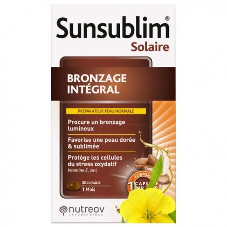 Nutréov sunsublim bronzage intégral hydratant trio 30 capsules