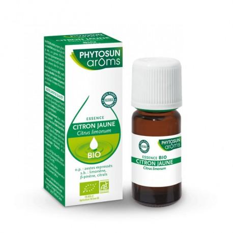 Phytosun arôms huile essentielle bio citron jaune 10ml