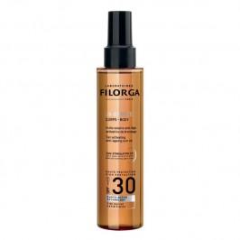 Filorga uv-bronze corps spf30+ huile solaire anit-âge activatrice de bronzage 150ml
