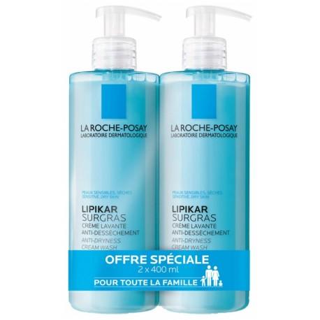 La Roche Posay Lipikar Surgras Savon Liquide 2 x 400ml