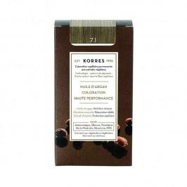 Korres coloration permanente à l'huile d'argan blond cendré 7.1 145ml