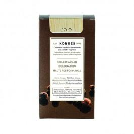 Korres coloration permanente à l'huile d'argan 10.0 blonde platine 145ml