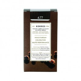 Korres coloration permanente 4.77 chatain naturel marron