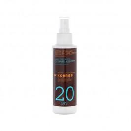 Korres huile de bronzage spf 20 corps à la noix de coco 150 ml
