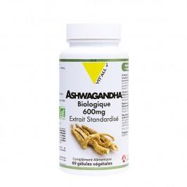 Vitall+ ashwagandha bio 600 60 gélules