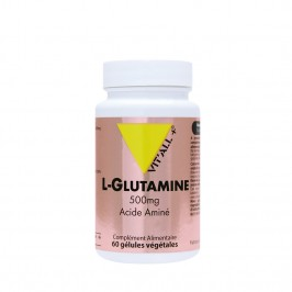 Vitall+ l-glutamine 500mg 60 gélules