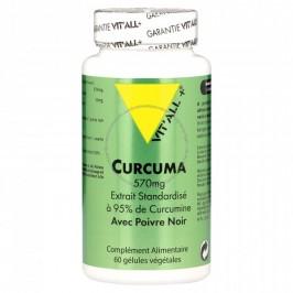 Vitall+ curcuma 570mg + poivre noir 60 gélules
