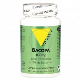 Vitall+ bacopa monnieri 100mg 60 comprimés
