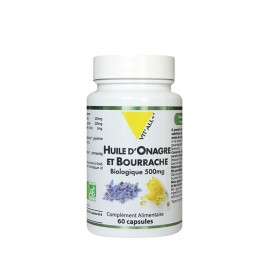 VITALL ONAGRE & BOURRACHE BIO 500MG 60 CAPS