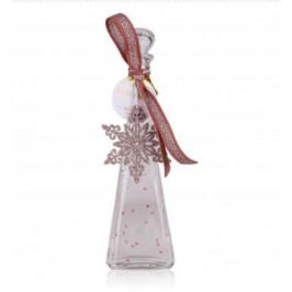 Tentation cadeau de Noël Fantasy transparent à paillettes cœurs roses