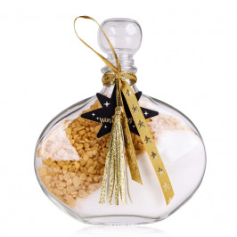 Tentation cadeau de Noël sels de bain Sabina or&blanc 250g