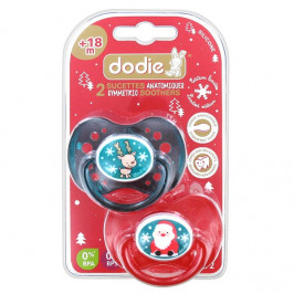 DODIE DUO SUCETTES ANATOMIQUE SILICONE +18M NOEL
