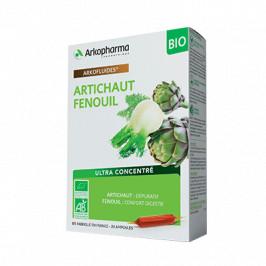 Arkopharma arkofluide artichaut / fenouil bio 20 ampoules