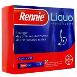 Rennieliquo sans sucre suspension buvable édulcorée à la saccharine sodique 20 sachets-dose de 10ml