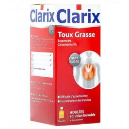 Clarix Expectorant Carbocisteine 5% Adultes Sans Sucre 250ml
