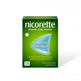Nicorette Microtab 2mg 100 compriméq sublinguaux