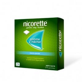 Nicorette Menthe Glaciale 2Mg Sans Sucre 210 Gommes à Mâcher