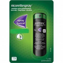 Nicorette spray 1 mg/dose solution pour pulvérisation buccale menthe fraîche