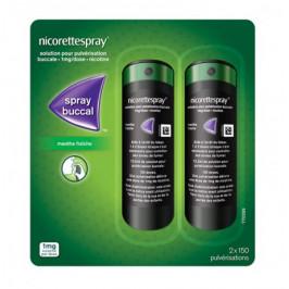 Nicorette spray 2 sprays de 150 doses
