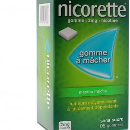 Nicorette 105 Gommes 2mg menthe fraîche