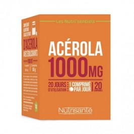 Nutrisanté nutri'sentiels acérola 1000mg 20 comprimés