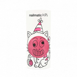 Nailmatic kids vernis eau kitty rose bonbon paillettes 8ml