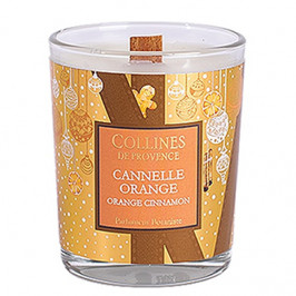 Collines de provence bougie parfumée cannelle orange 180g