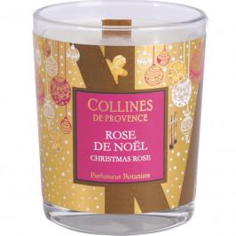 Collines de provence bougie parfumée Noël rose de noël 180g