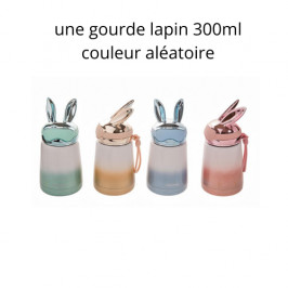 STELLA GREEN 322070 BOUTEILLE ISOTHERME LAPIN AVEC CASQUE 300ML