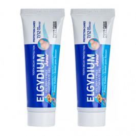 Elgydium junior gel dentifrice bubble gum 2x50ml