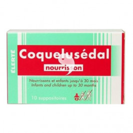 Coquelusedal suppositoire nourrissons 10 suppositoires