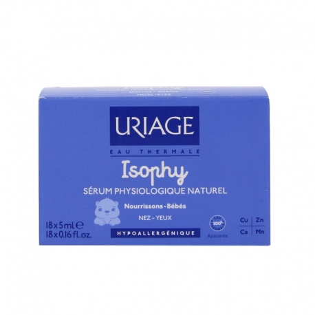 Uriage isophy sérum physiologique 18 unidoses